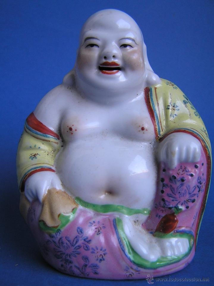 PRECIOSO BUDA . ESTILO FAMILIA ROSA. NUMERADO EN LA BASE. (Antigüedades - Porcelanas y Cerámicas - China)