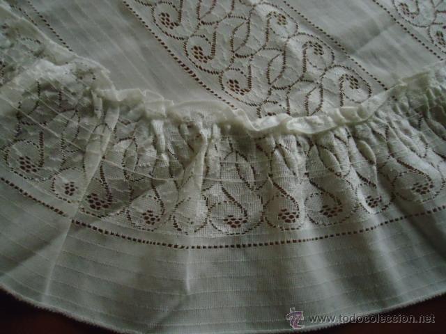 Antigüedades: magnifica antigua colcha encajes para cama de matrimonio, con cubre almohada , en - Foto 3 - 40479194