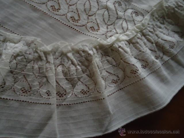 Antigüedades: magnifica antigua colcha encajes para cama de matrimonio, con cubre almohada , en - Foto 5 - 40479194