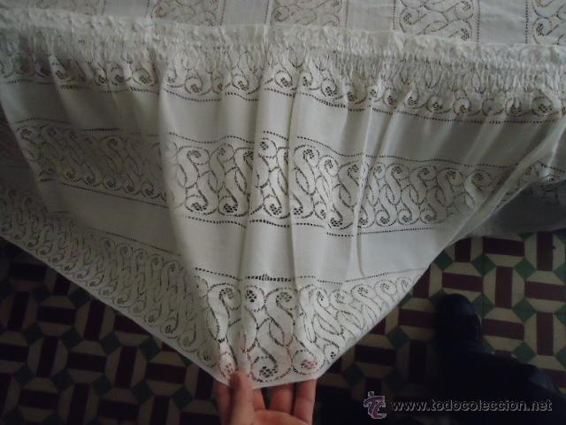 Antigüedades: magnifica antigua colcha encajes para cama de matrimonio, con cubre almohada , en - Foto 11 - 40479194