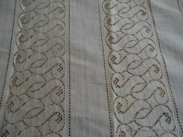 Antigüedades: magnifica antigua colcha encajes para cama de matrimonio, con cubre almohada , en - Foto 12 - 40479194