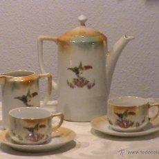 Antigüedades: JUEGO DE CAFÉ (TU Y YO)MODERNISTA EN PORCELANA DE REFLEJOS.. Lote 40483587