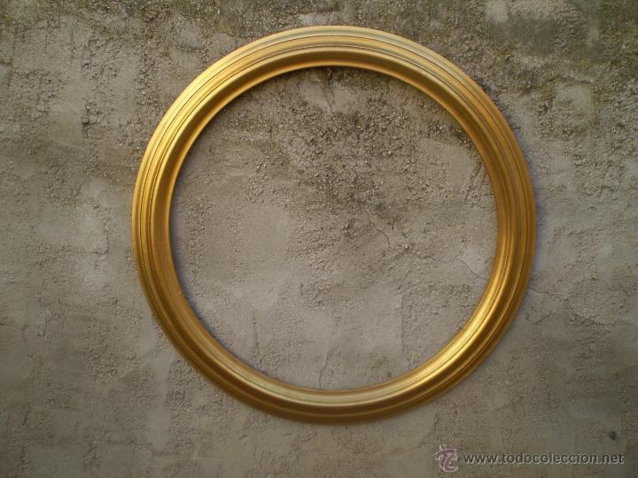 Marco redondo en pan de oro para espejo diametr comprar for Espejo redondo con marco