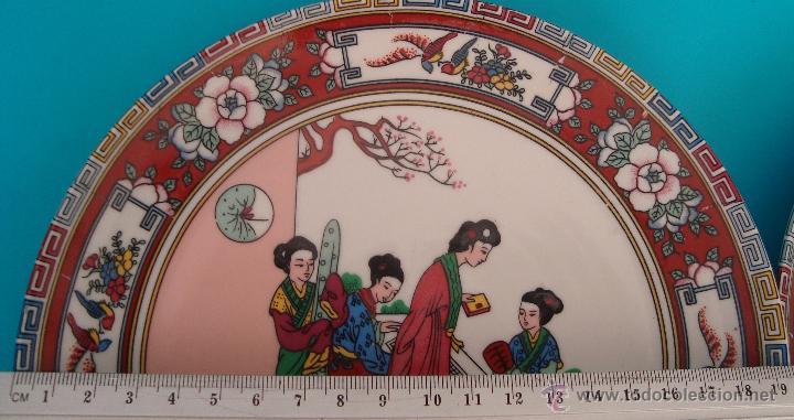 Antigüedades: PLATO DE PORCELANA CHINA DECORADO A MANO SELLADO, PERFECTO - Foto 3 - 40488408