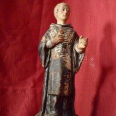Antigüedades: PRECIOSO SANTO MUY ANTIGUO IMAGEN RELIGIOSA EN TERRACOTA DE CONVENTO. Lote 40494054