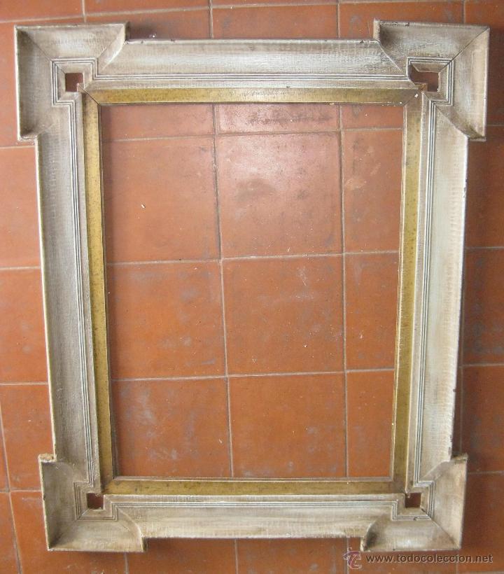 antiguo marco de madera pintado y marco interio - Comprar Marcos ...