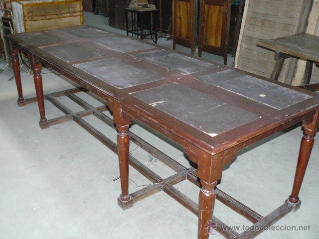 Gran mesa biblioteca de caoba comprar mesas antiguas en for Mesa biblioteca