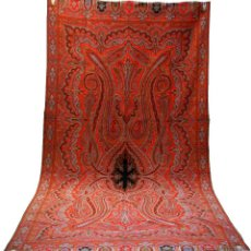 Antigüedades: MANTÓN DE LANA DE CACHEMIRA - Nº 1 - LLAMADOS DE 8 PUNTAS - SIGLO XIX. Lote 40506833