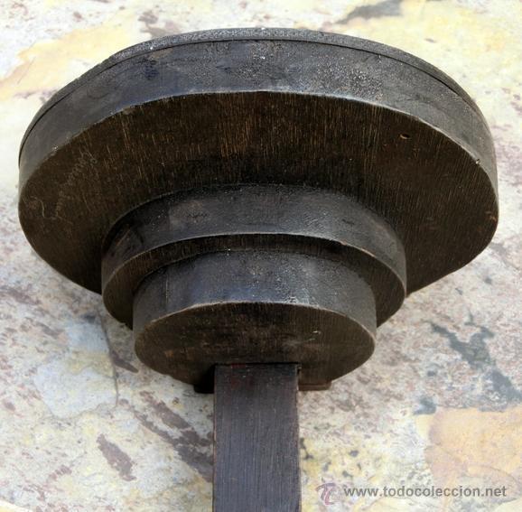 Antigüedades: EXTRAÑA CRUZ DE MADERA. FIRMADA Y FECHADA. - Foto 10 - 226137305