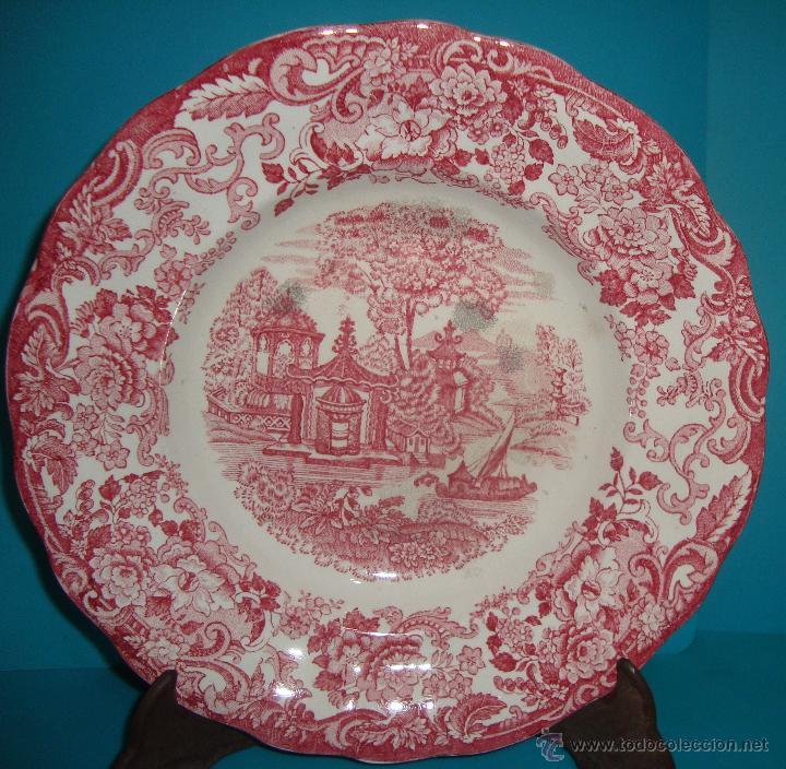 PLATO PICKMAN S. A. SERIE ROSA (Antigüedades - Porcelanas y Cerámicas - La Cartuja Pickman)