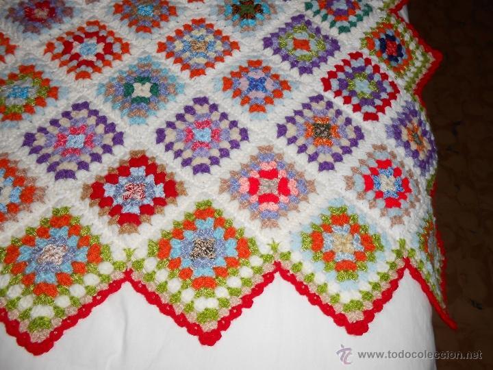 Colcha de lana a ganchillo comprar colchas antiguas en for Colchas de punto de lana