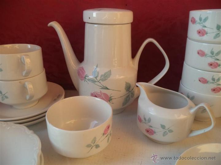 Antigüedades: lote de te imcompleto porcelana santa clara - Foto 2 - 40544994