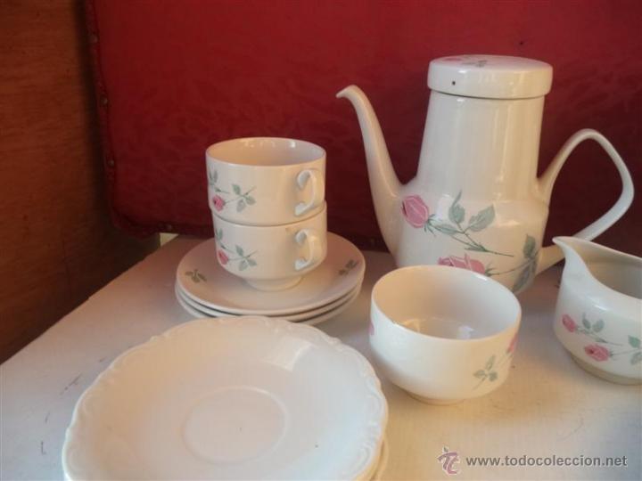 Antigüedades: lote de te imcompleto porcelana santa clara - Foto 3 - 40544994