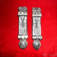 Antigüedades: PAREJA DE ADORNOS FRONTALES PARA MUEBLE ANTIGUO. Lote 40547269