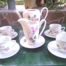 Antigüedades: ANTIGUO JUEGO DE CAFE SELLADO SAN CLAUDIO. Lote 40548326