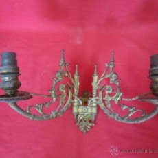 Antigüedades: PAREJA DE APLIQUES DE BRONCE 1860 APROXIMADAMENTE.. Lote 40567030