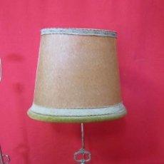 Antigüedades: PAREJA DE LAMPARAS DE SOBREMESA BAÑADAS EN PLATA CON DOS CESTITOS.. Lote 40569377
