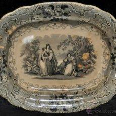Antigüedades: GRAN FUENTE EN LOZA DEL SIGLO XIX. CARTAGENA DE INDIAS. PICKMANN. CARTUJA. PIC-NIC. Lote 40571706