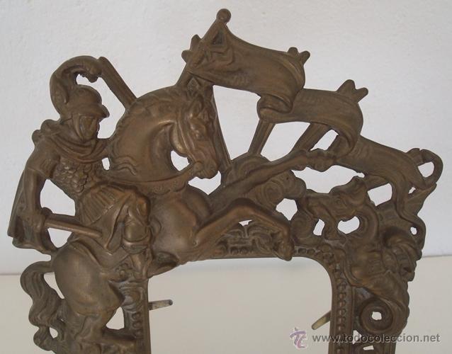 Antigüedades: ANTIGUO PORTARETRATO DE LATÓN - Foto 2 - 40572229