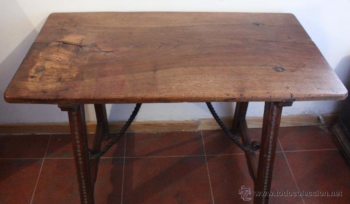 MESA DE BARGUEÑO DEL SXVII. (Antigüedades - Muebles Antiguos - Mesas Antiguas)