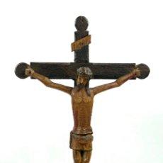 Antigüedades: CRISTO DE MADERA DEL S.XIX ALTURA TOTAL: 42 CM DE ALTURA. VER FOTOS ANEXAS. Lote 40583554