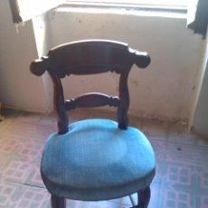 Antigüedades: JUEGO DE SEIS SILLAS DE NOGAL.. Lote 40589293