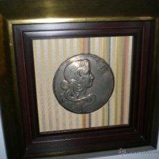 Antigüedades: ANTIGUA TAPA DE POLVERA ART NOUVEAU. Lote 40593457