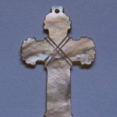 Antigüedades: 2 CRUCES DE NACAR SIGLO XX. BIZANTINA-VISIGODA. Lote 40593808