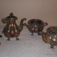 Antigüedades: TRES PIEZAS JUEGO DE TE. PARA RESTAURAR.. Lote 40595145