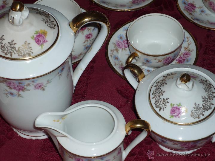 Antigüedades: Juego de Café de Porcelana de Santa Clara - Foto 2 - 40595993