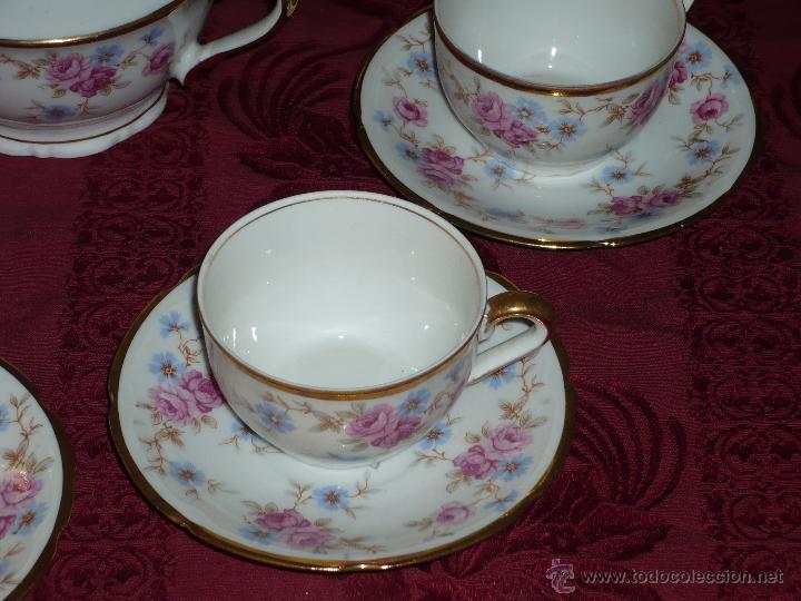 Antigüedades: Juego de Café de Porcelana de Santa Clara - Foto 3 - 40595993