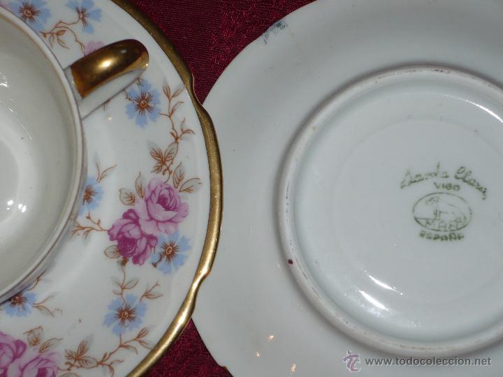 Antigüedades: Juego de Café de Porcelana de Santa Clara - Foto 4 - 40595993