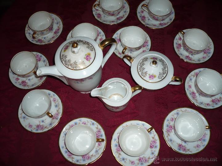 Antigüedades: Juego de Café de Porcelana de Santa Clara - Foto 6 - 40595993