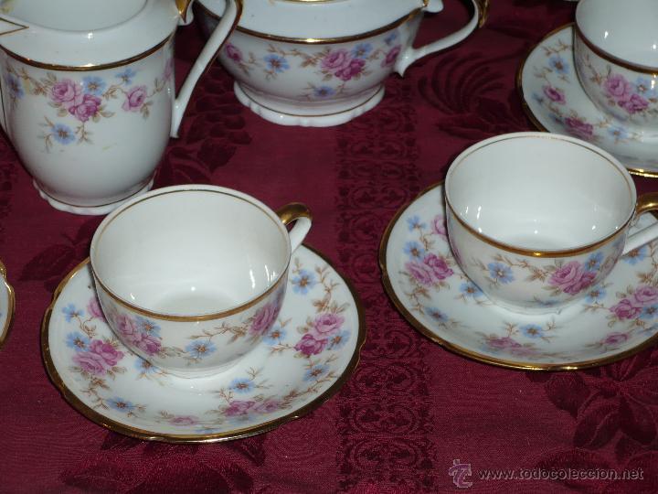 Antigüedades: Juego de Café de Porcelana de Santa Clara - Foto 7 - 40595993