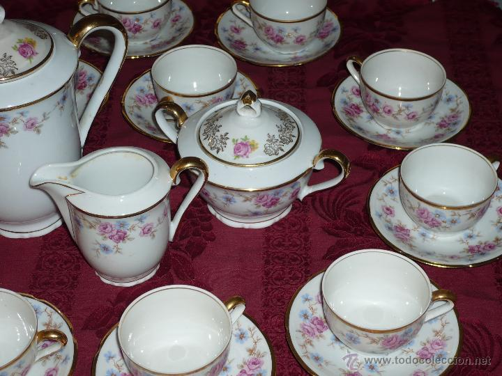 Antigüedades: Juego de Café de Porcelana de Santa Clara - Foto 8 - 40595993
