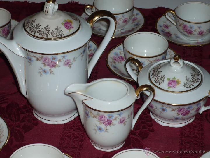 Antigüedades: Juego de Café de Porcelana de Santa Clara - Foto 9 - 40595993
