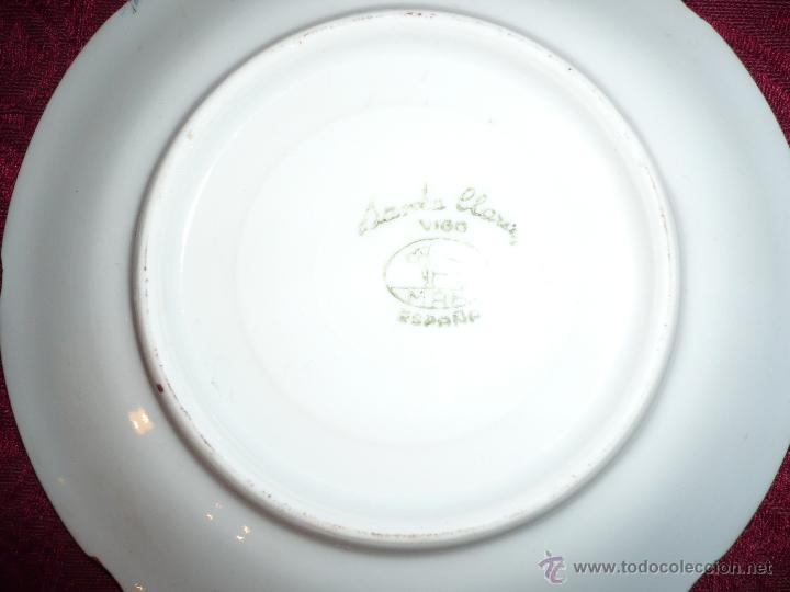 Antigüedades: Juego de Café de Porcelana de Santa Clara - Foto 10 - 40595993