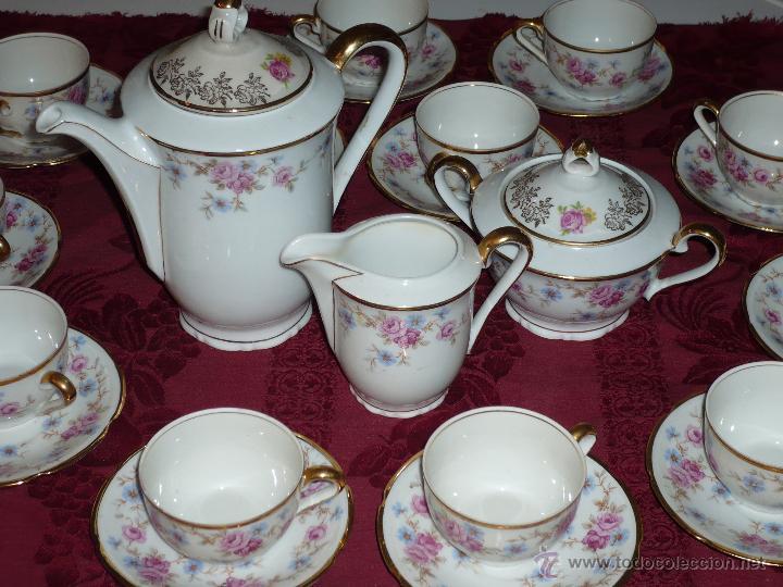Antigüedades: Juego de Café de Porcelana de Santa Clara - Foto 11 - 40595993
