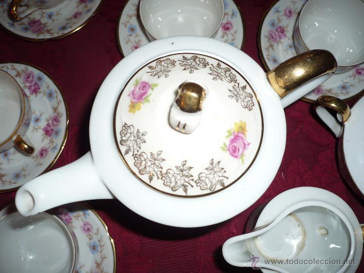 Antigüedades: Juego de Café de Porcelana de Santa Clara - Foto 12 - 40595993