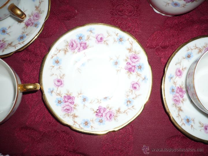 Antigüedades: Juego de Café de Porcelana de Santa Clara - Foto 13 - 40595993
