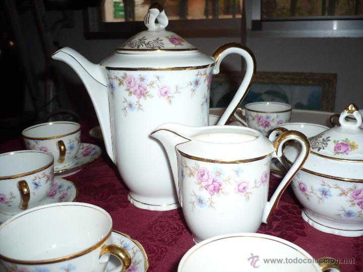 Antigüedades: Juego de Café de Porcelana de Santa Clara - Foto 14 - 40595993