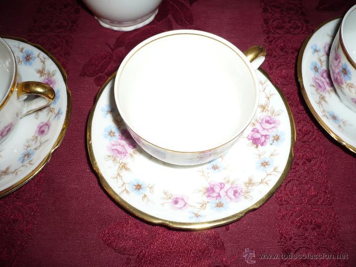 Antigüedades: Juego de Café de Porcelana de Santa Clara - Foto 15 - 40595993