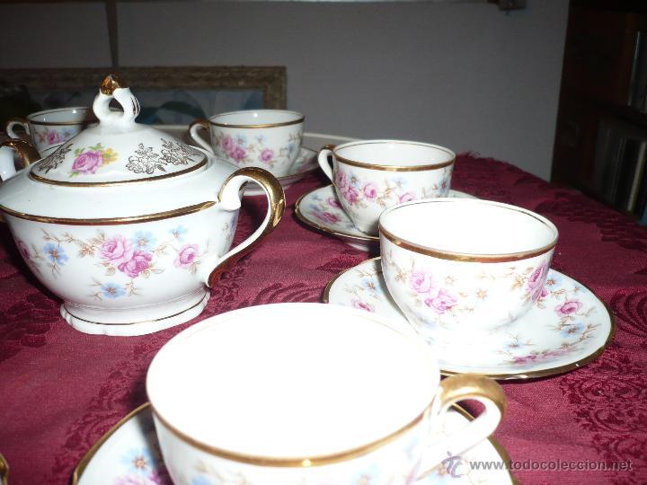 Antigüedades: Juego de Café de Porcelana de Santa Clara - Foto 16 - 40595993