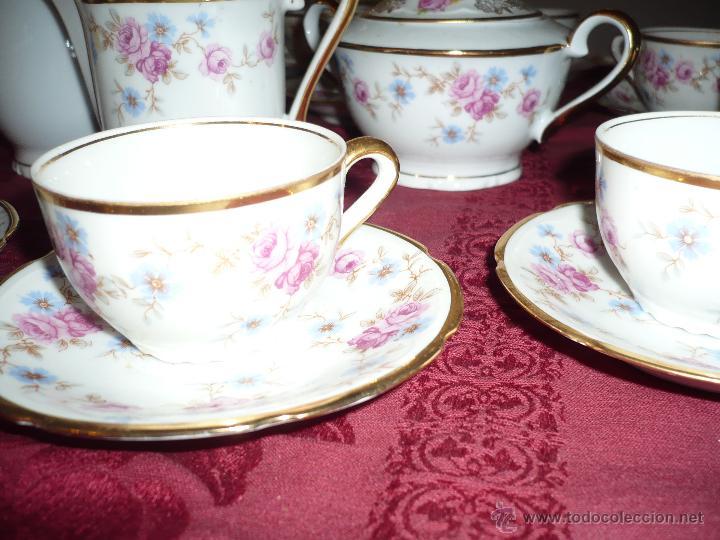 Antigüedades: Juego de Café de Porcelana de Santa Clara - Foto 17 - 40595993