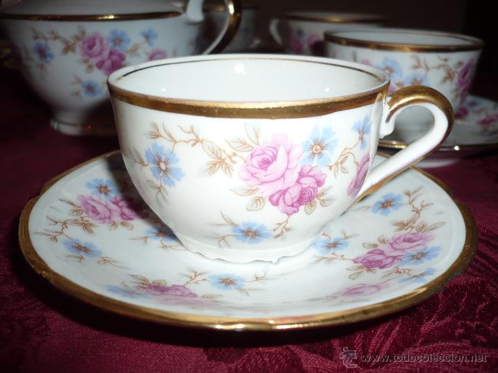 Antigüedades: Juego de Café de Porcelana de Santa Clara - Foto 18 - 40595993