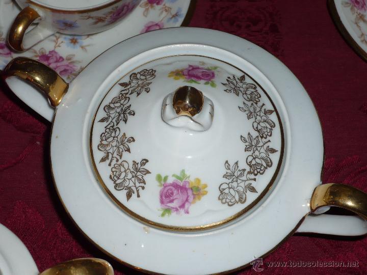 Antigüedades: Juego de Café de Porcelana de Santa Clara - Foto 19 - 40595993