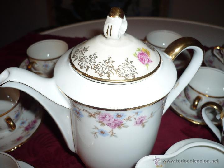 Antigüedades: Juego de Café de Porcelana de Santa Clara - Foto 21 - 40595993