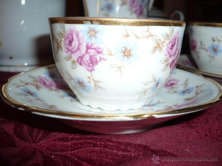 Antigüedades: Juego de Café de Porcelana de Santa Clara - Foto 22 - 40595993