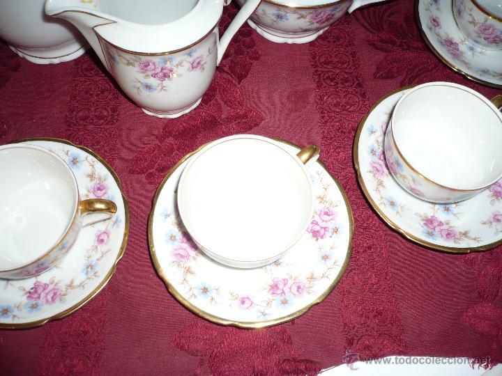 Antigüedades: Juego de Café de Porcelana de Santa Clara - Foto 23 - 40595993