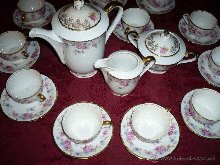 Antigüedades: Juego de Café de Porcelana de Santa Clara - Foto 24 - 40595993
